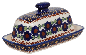 American Butter Dish (Violets)