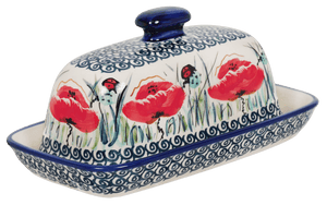 American Butter Dish (Poppy Paradise)