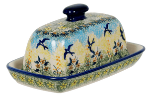 American Butter Dish (Soaring Swallows)