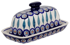 American Butter Dish (Peacock)