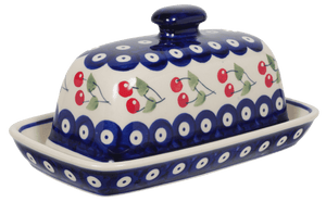 American Butter Dish (Cherry Dot)