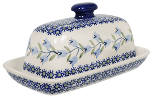 American Butter Dish (Lily of the Valley)