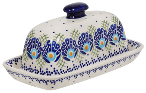 American Butter Dish (Peacock's Pride)