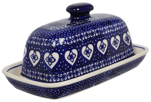 American Butter Dish (Nordic Hearts)