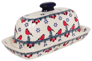 American Butter Dish (Red Bird)