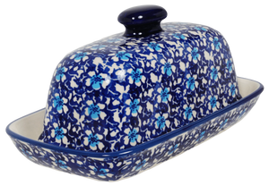 American Butter Dish (Blue on Blue)