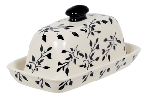 American Butter Dish (Black Spray)