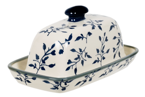 American Butter Dish (Green Spray)