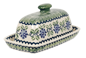 American Butter Dish (Woven Blues)