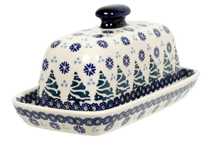 American Butter Dish (Snowy Pines)