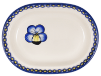 The Fancy Butter Dish (Pansies)