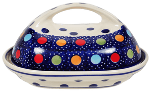 The Fancy Butter Dish (Neon Dots)