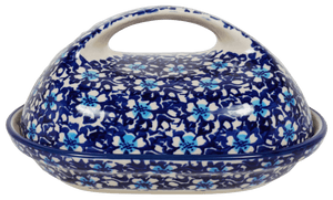 The Fancy Butter Dish (Blue on Blue)