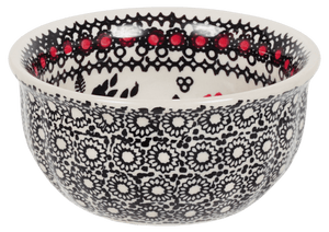 "4.5"" Bowl  (Duet in Black & Red)"