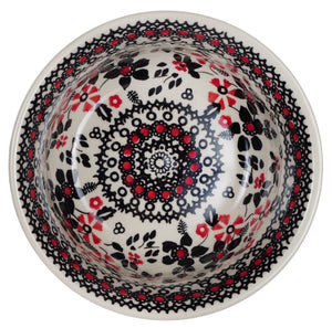 "5.5"" Bowl (Duet in Black & Red)"