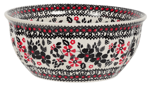 "7.75"" Bowl  (Duet in Black & Red)"