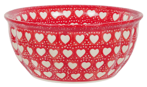 "7.75"" Bowl (Torrent of Hearts Red)"