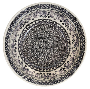 "9"" Bowl  (Duet in Black & Grey)"