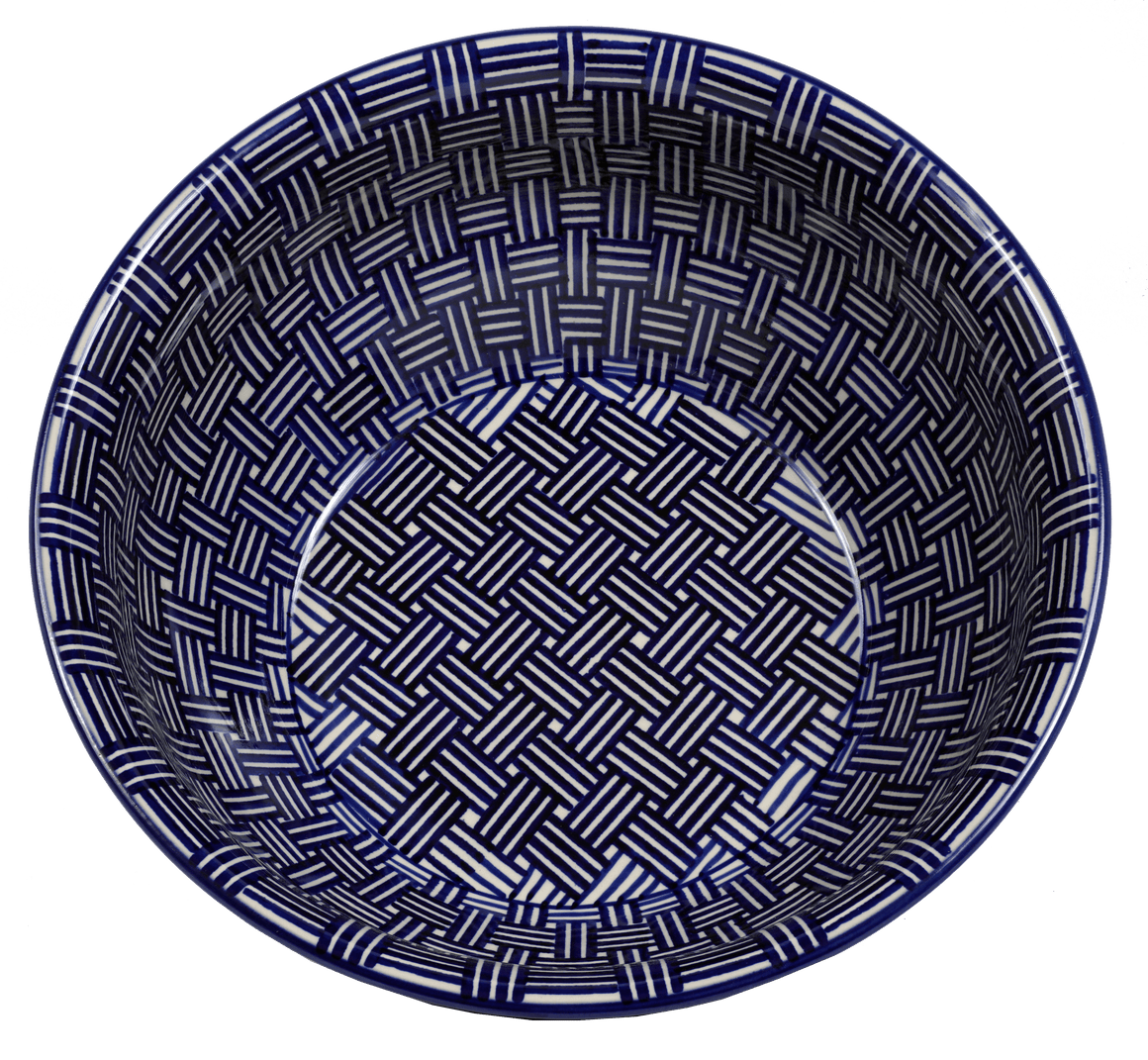 "11"" Bowl (Blue Basket Weave)"