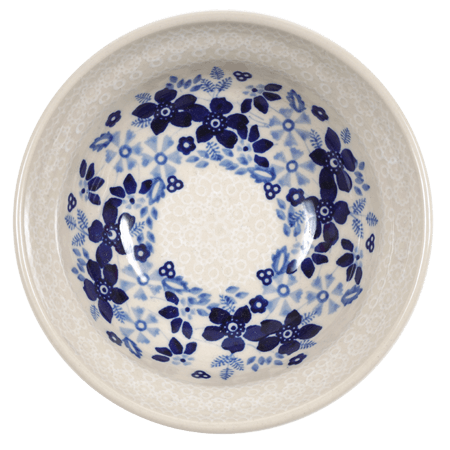 "6"" Bowl (Duet Blue Wreath)"