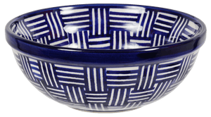 "6"" Bowl (Blue Basket Weave)"