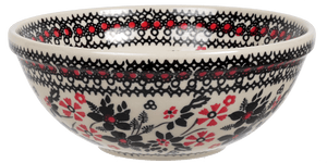 "6.75"" Bowl  (Duet in Black & Red)"
