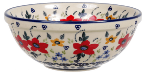 "6.75"" Bowl  (Bold Red Blossoms)"