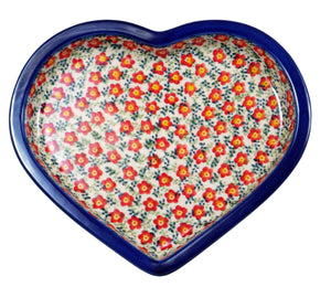 Heart Plate (Floral Revival Red)