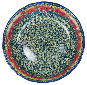 "11"" 'Agata' Bowl (Poppies in Bloom)"