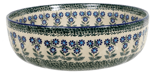 "11"" 'Agata' Bowl (Blossoms on the Green)"