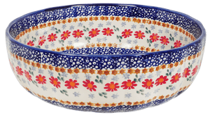 "11"" 'Agata' Bowl (Red Daisy Daze)"