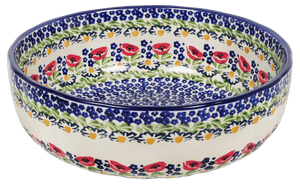 "11"" 'Agata' Bowl (Poppy Parade)"
