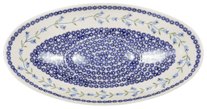 Large Oblong Serving Bowl (Lily of the Valley)