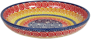 "11.75"" Shallow Salad Bowl (Psychedelic Swirl)"