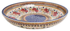"11.75"" Shallow Salad Bowl (Ruby Duet)"