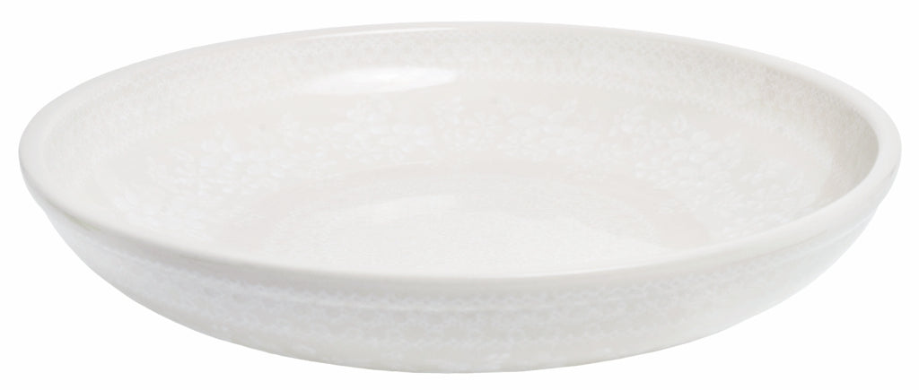 "11.75"" Shallow Salad Bowl (Duet in Lace)"