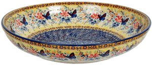 "11.75"" Shallow Salad Bowl (Butterfly Bliss)"