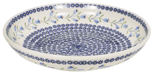 "11.75"" Shallow Salad Bowl (Lily of the Valley)"