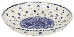 "11.75"" Shallow Salad Bowl (Forget Me Not)"