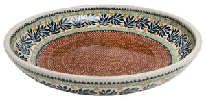 "11.75"" Shallow Salad Bowl (Jungle Fever)"