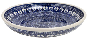 "11.75"" Shallow Salad Bowl (Nordic Hearts)"
