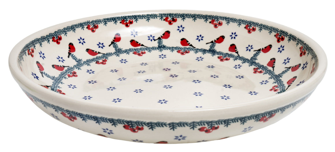 "11.75"" Shallow Salad Bowl (Red Bird)"