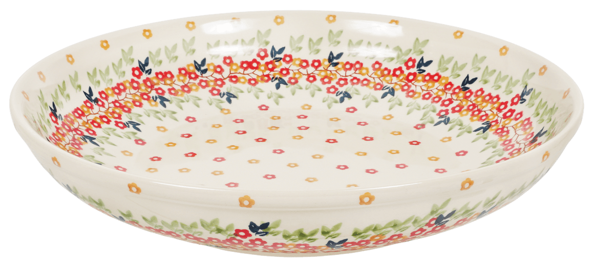 "11.75"" Shallow Salad Bowl (Autumn Wreath)"