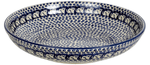 "11.75"" Shallow Salad Bowl (Kitty Cat Path)"