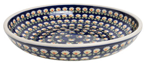 "11.75"" Shallow Salad Bowl (Tulip Azul)"