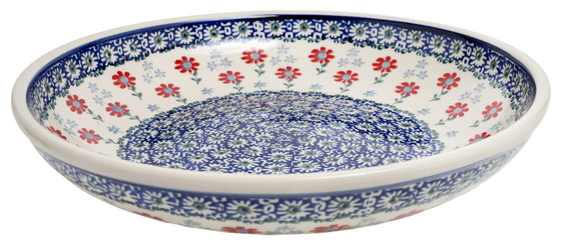 "11.75"" Shallow Salad Bowl (Summer Blossoms)"