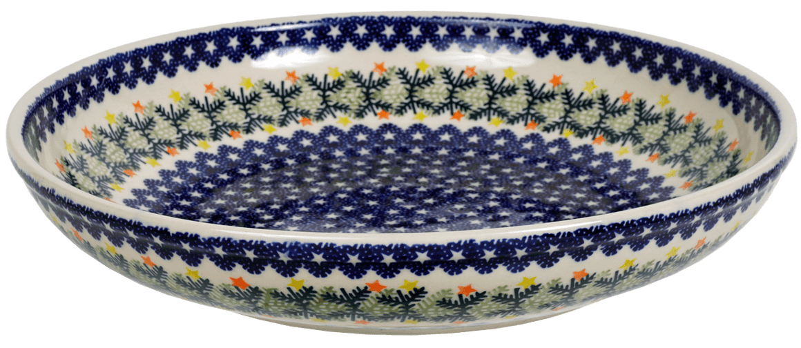 "11.75"" Shallow Salad Bowl (Holiday Stars)"