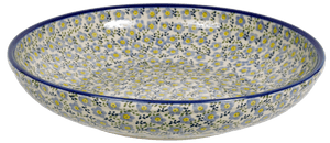 "11.75"" Shallow Salad Bowl (Floral Revival Pastel)"