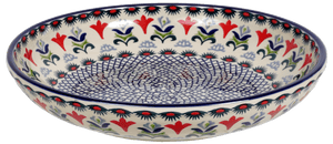 "11.75"" Shallow Salad Bowl (Scandinavian Scarlet)"