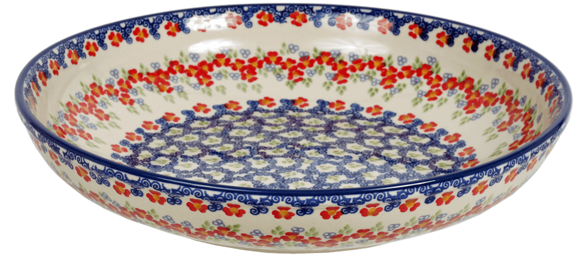 "11.75"" Shallow Salad Bowl (Ring Around the Rosie)"